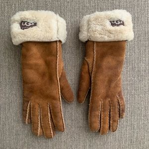 UGG brown winter suede gloves size small